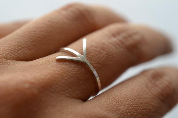 Flèche - silver ring, 39€