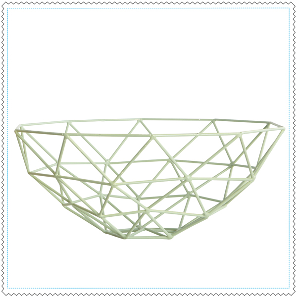 House-Doctor-corbeille-a-fruit-geometric-pastel-vert