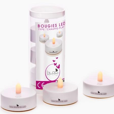 3 bougies chauffe plat led Bloo Lands - 20€