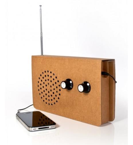 Radio en carton recyclé - 40,90€