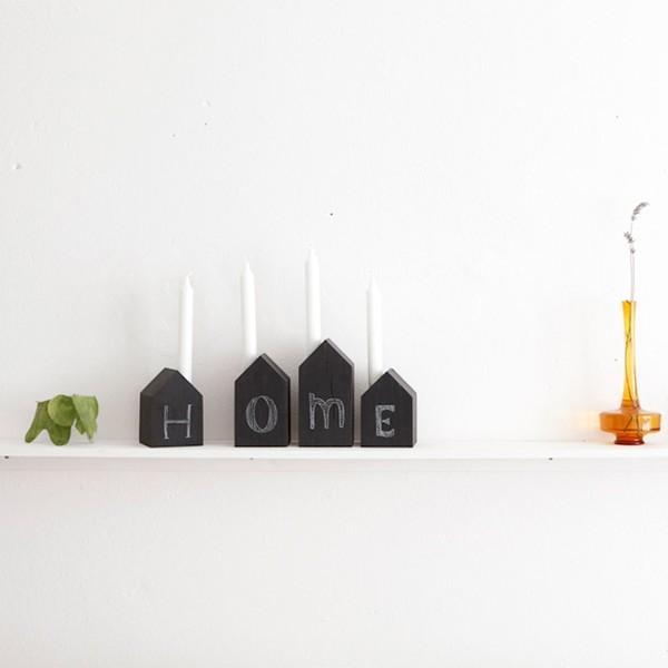 Bougeoir maison en ardoise - 19€
