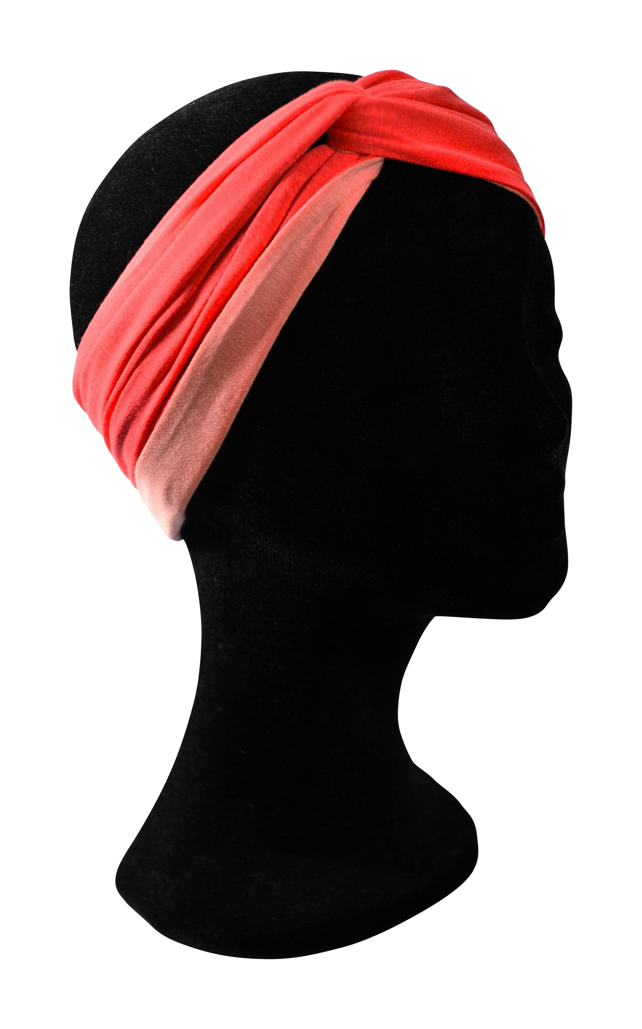Turban Miry Candy, pêche et rose.  25.00€