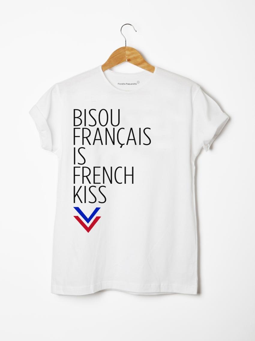 t-shirt french kiss florette paquerette
