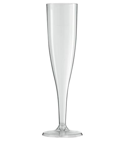 flutes a champagne en plastique