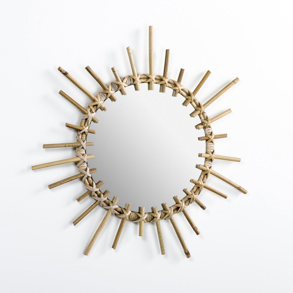 Miroir rotin Suzette, forme étoile