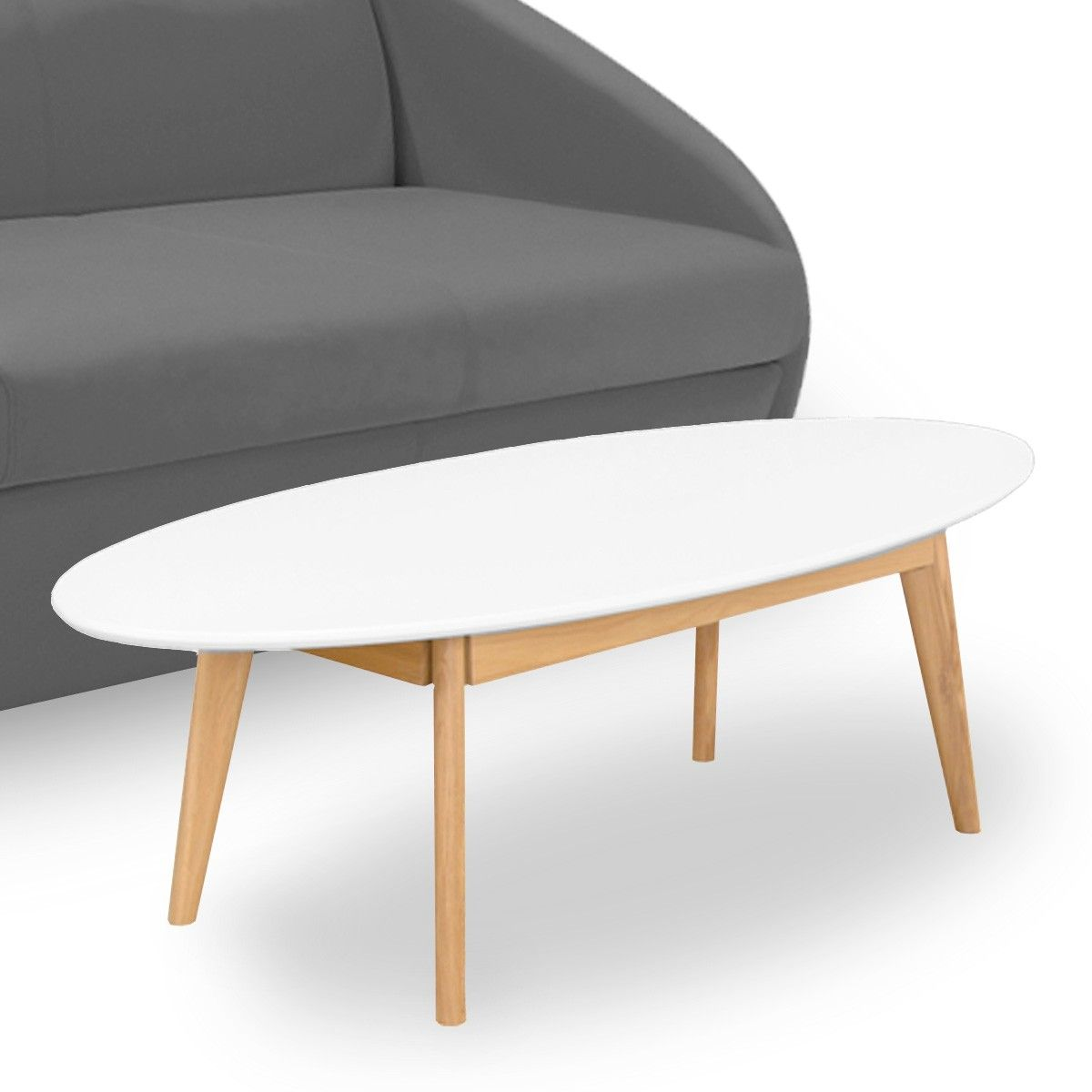 Blanche Basse Table Ovale Table Ovale Scandinave Basse HDbW2Ie9EY