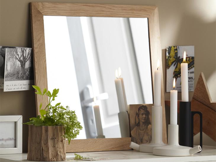 Miroir Inspire Nakato chêne, Leroy Merlin
