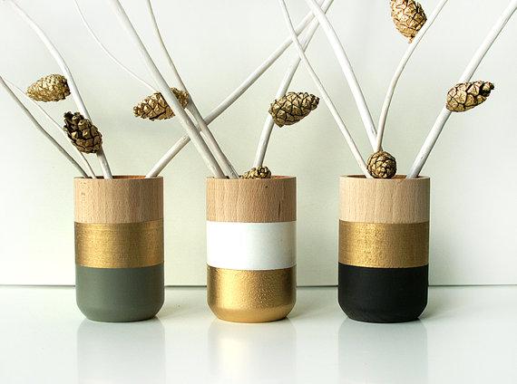 Bougeoirs et vases en bois shadeon shape rise and shine - Vase en bois ...
